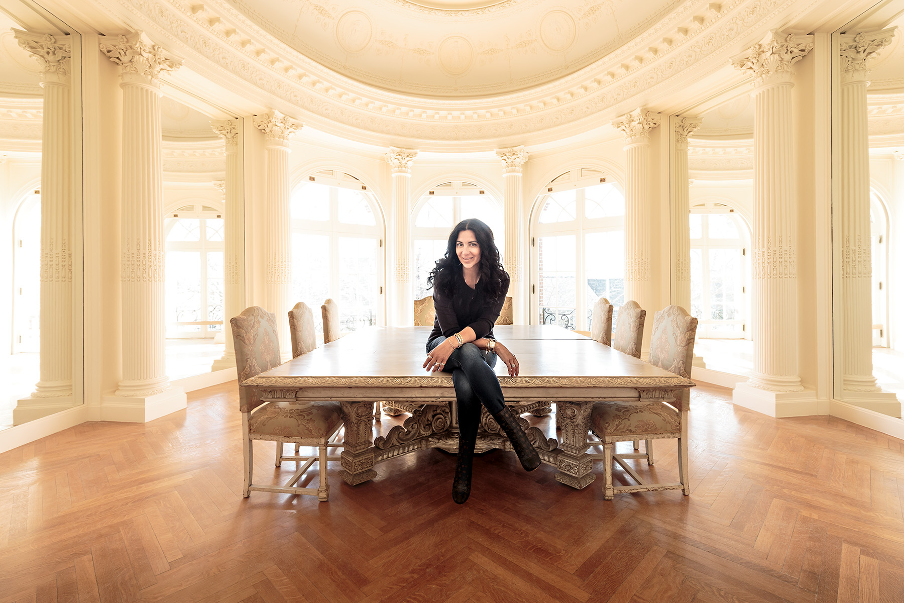 Carolyn Rafaelian at Belcourt Castle shot for Forbes Magazine