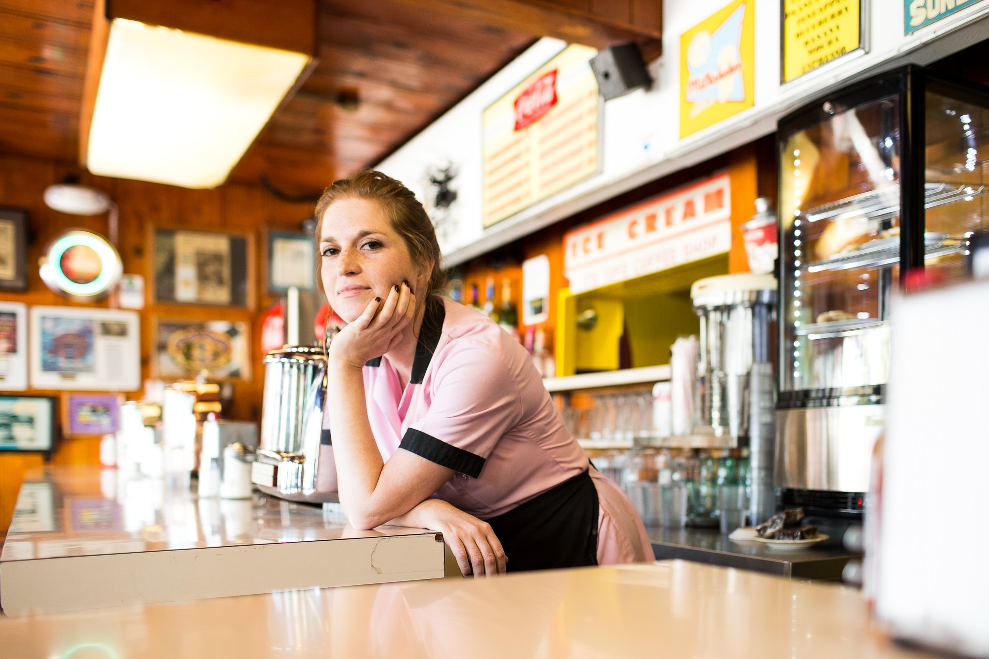 Portrait of Diner Waitress for ACT