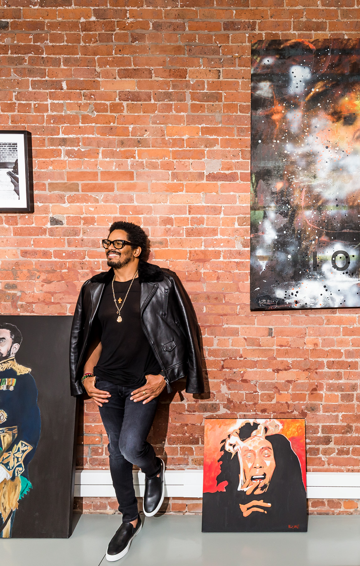 Rohan Marley photographed for Forbes at his home in NYC