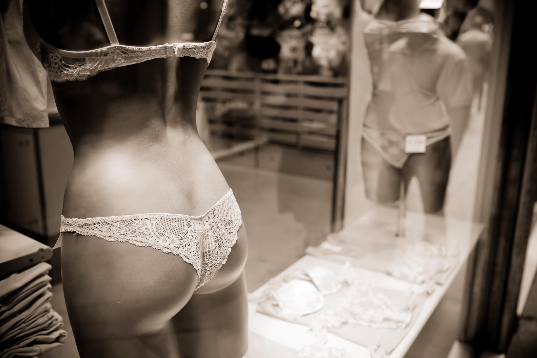 Lingerie Shop Window, Milan Italy